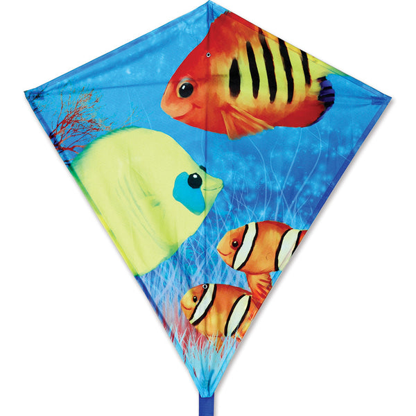 30 in. Diamond Kite - Fishy Fishes