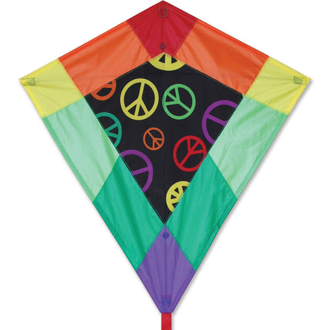 30 in. Diamond Kite - Peace