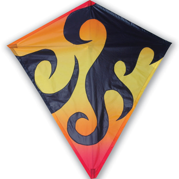 30 in. Diamond Kite - Hot Flames