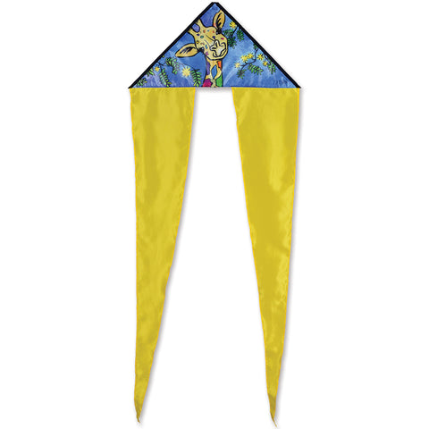Zippy Flo-Tail Delta Kite - Giraffe