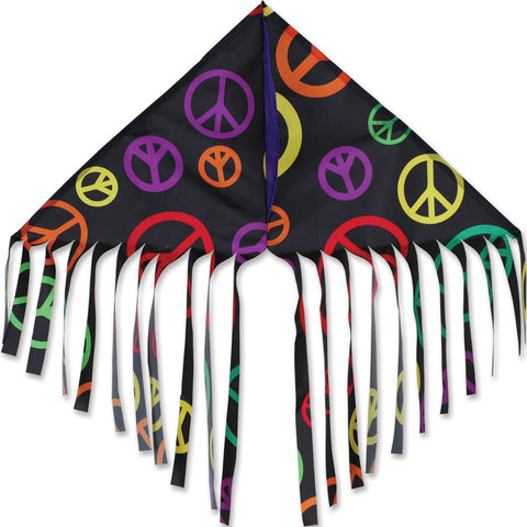 Fringe Delta Kite - Black Peace