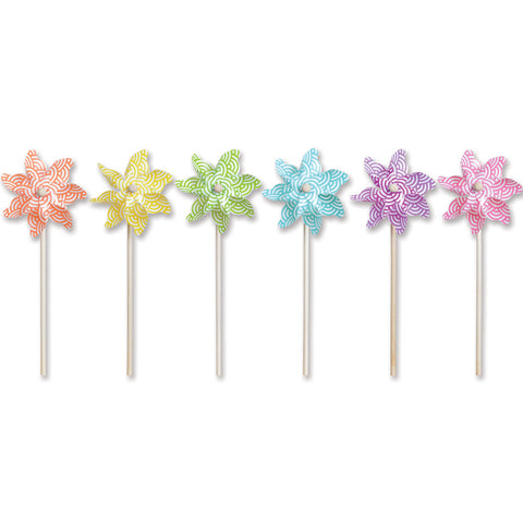 7 in. Pinwheel - Waves (Set of 24)