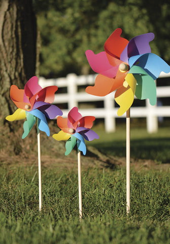 12 in. Pinwheel - Rainbow (Set of 24)