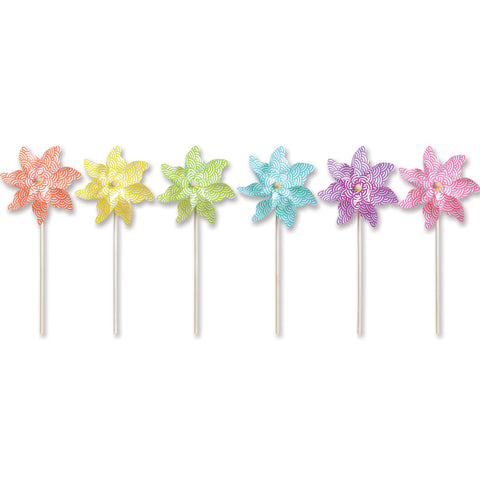 9 in. Pinwheel - Waves (Set of 24)
