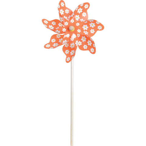 9 in. Pinwheel - Flowers (Set of 24)