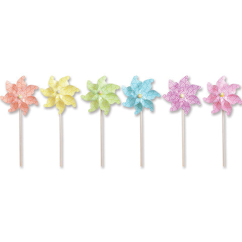 12 in. Pinwheel - Waves (Set of 24)