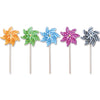 12 in. Pinwheel - Stripes (Set of 24)