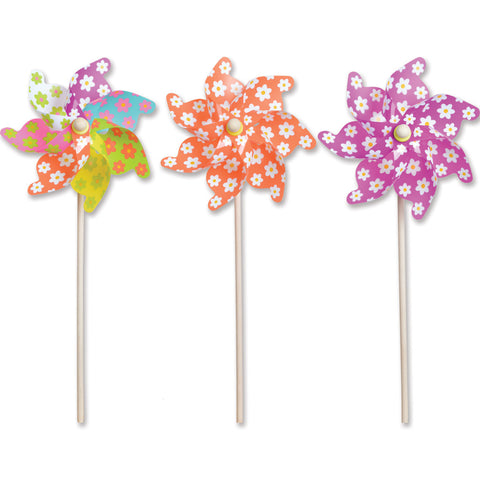 12 in. Pinwheel - Flowers (Set of 24)