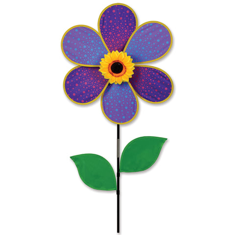 19 in. Purple Sunflower Spinner (Bold Innovations)