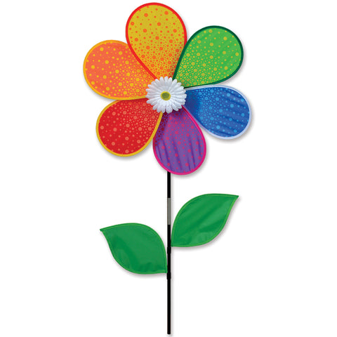 19 in. White Daisy Spinner (Bold Innovations)