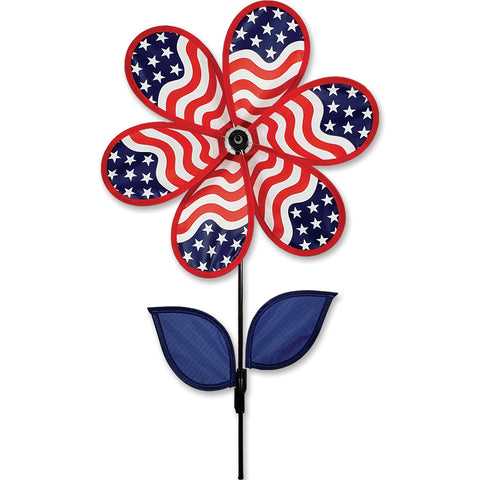 12 in. Flower Spinner - Patriotic