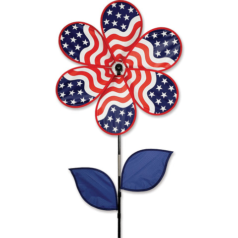 19 in. Flower Spinner - Patriotic
