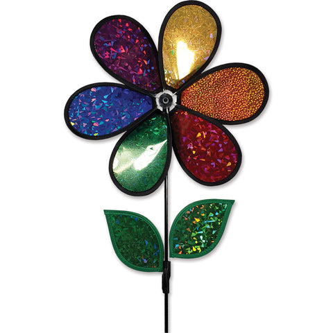 12 in. Flower Spinner - Rainbow Holographic