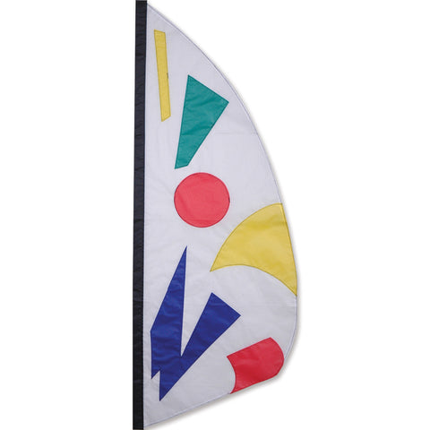 3.5 ft. Feather Banner-Rainbow Jazz