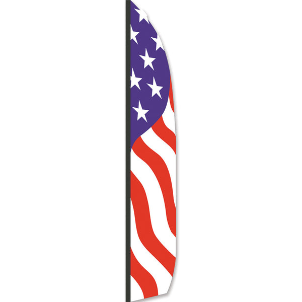 16 ft. Feather Banner - Patriotic