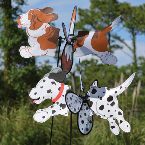 Petite Spinner - Dalmation and Basset Hound Dog Spinner