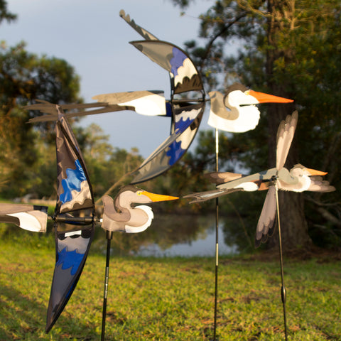 18 in. WhirliGig Spinner - Heron