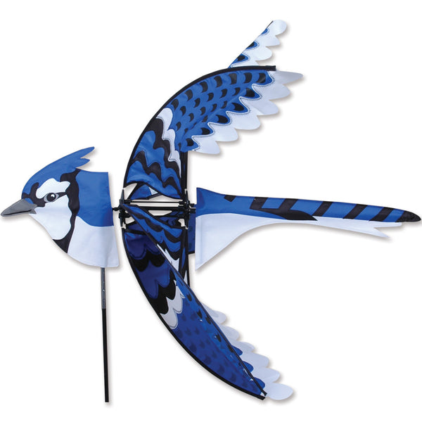 35 in. Flying Eastern Blue Jay Spinner