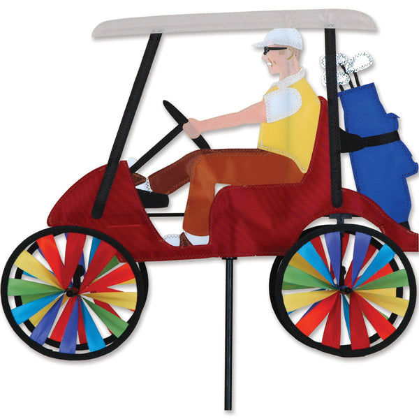 17 in. Golf Cart  Spinner - Red