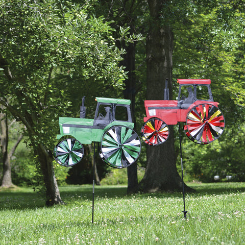 24 in. Modern Tractor  Spinner - Green