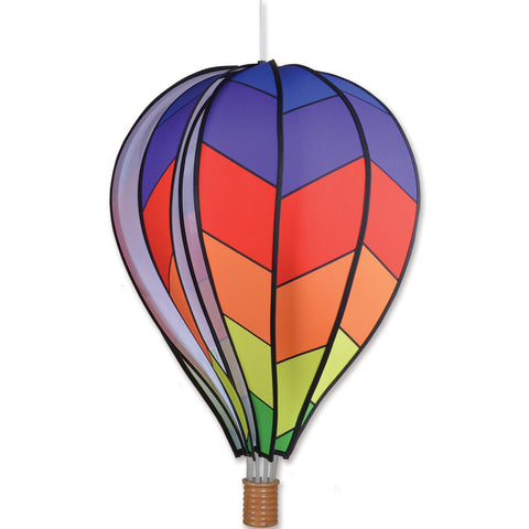 22 in. Hot Air Balloon - Chevron Rainbow