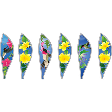 16 in. Hot Air Balloon - Hummingbirds
