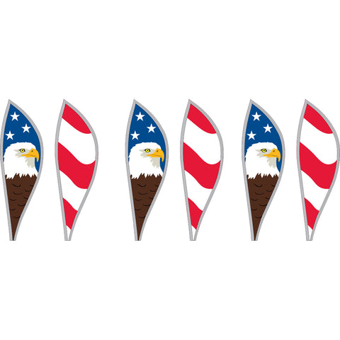 16 in. Hot Air Balloon - Patriotic Eagle