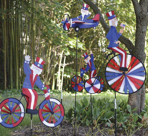High Wheel Bike Spinner - Uncle Sam
