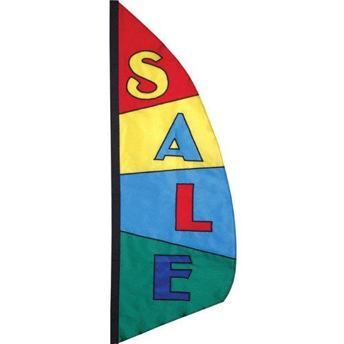8.5 ft. Feather Banner - Sale Block Pattern