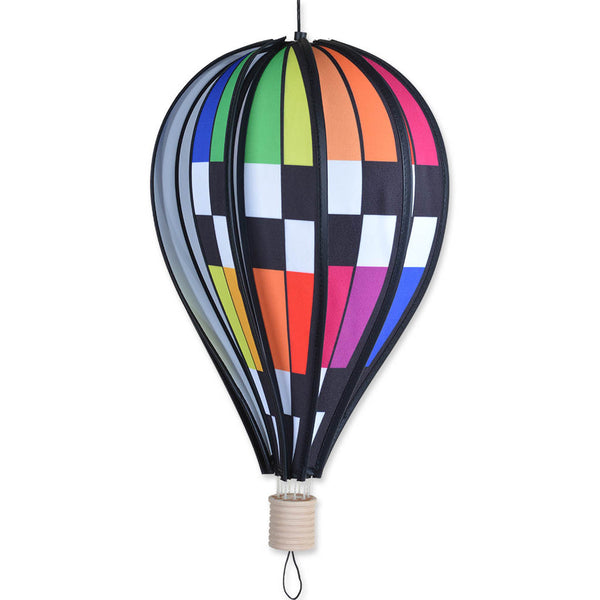 18 in. Hot Air Balloon - Checkered Rainbow