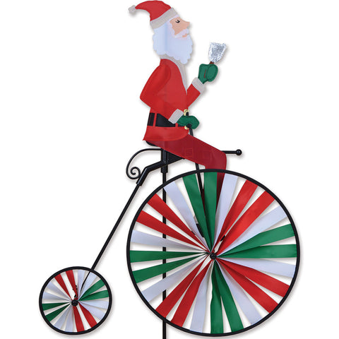 High Wheel Bike Spinner - Santa