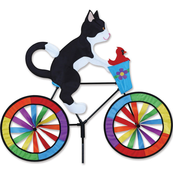 30 in. Bike Spinner - Tuxedo Cat