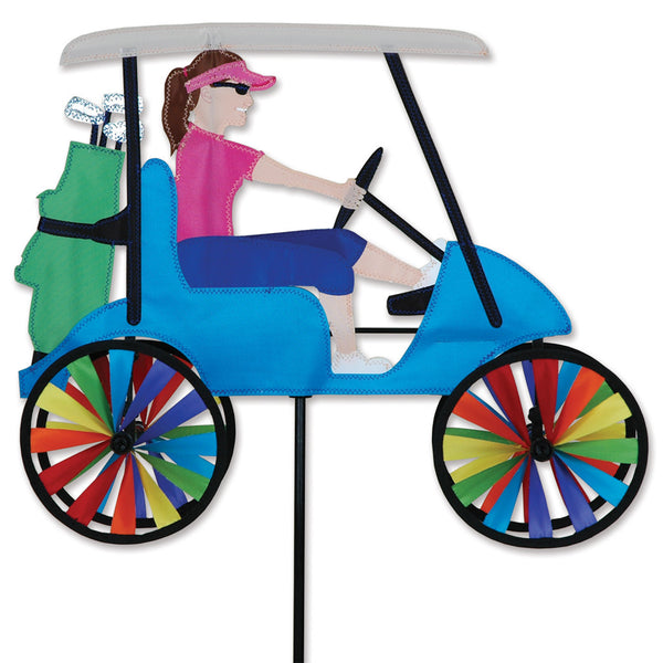 17 in. Lady Golf Cart Spinner