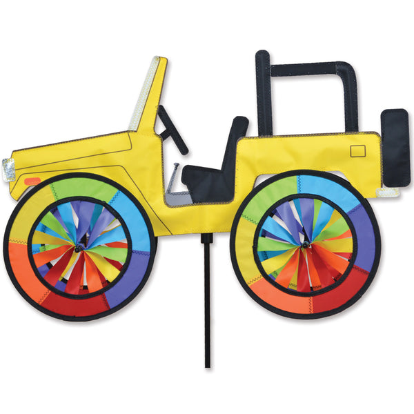 22 in. Yellow Jeep Spinner