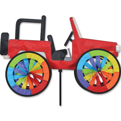 22 in. Red Jeep Spinner