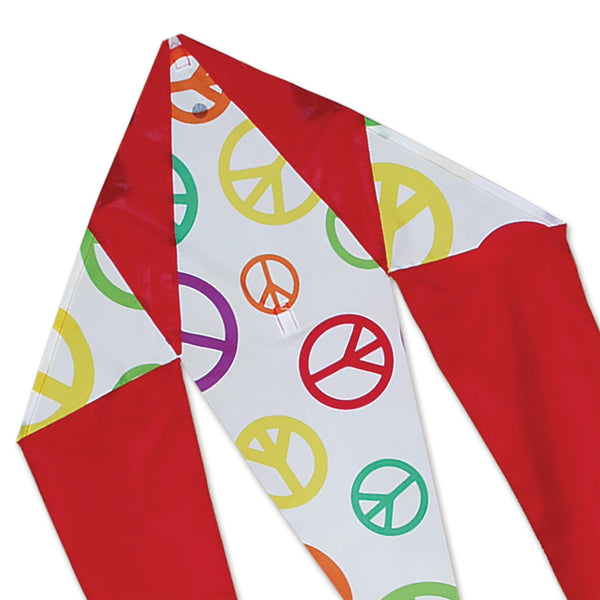 Mini Flo-Tail Delta Kite - Peace Signs