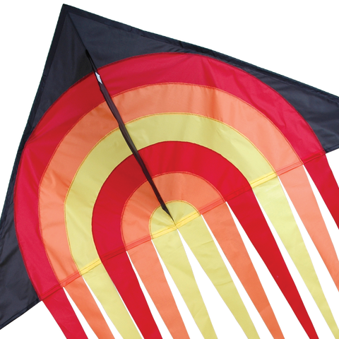 56 in. Stream Delta Kite - Fire Ball