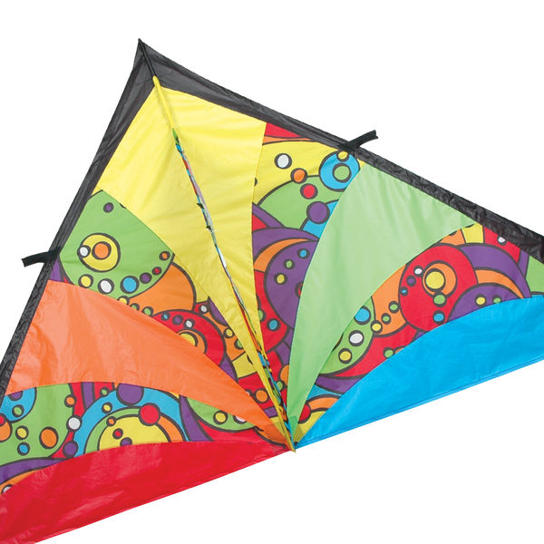 9 ft. Delta Kite - Rainbow Orbit