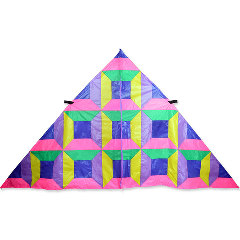 11 ft. Delta Kite - Neon Patchwork
