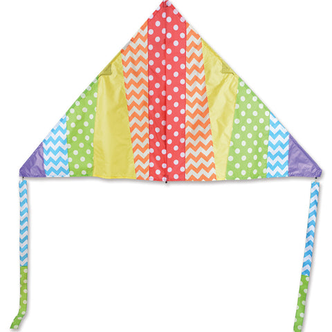 6.5 ft. Delta Kite - Pattern Rainbow