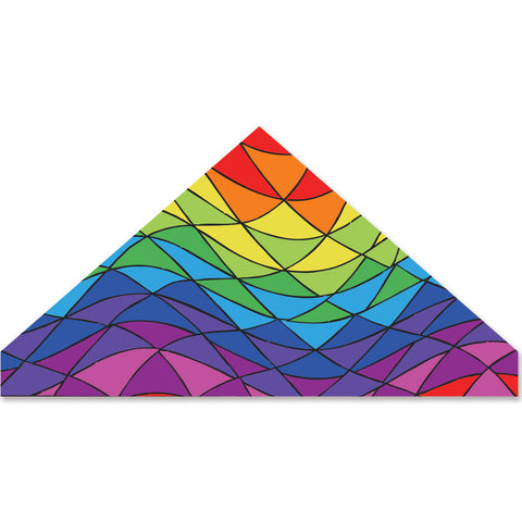 56 in. Delta Kite - Rainbow Triangles