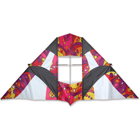 8.5 ft. Box Delta Kite - Warm Orbit