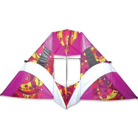 12 ft. Box Delta Kite - Warm Orbit