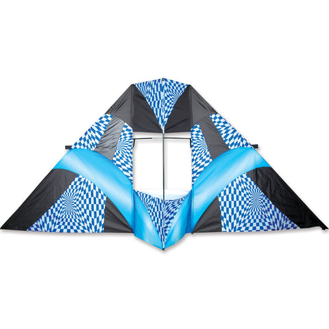 12 ft. Box Delta Kite - Blue Op Art