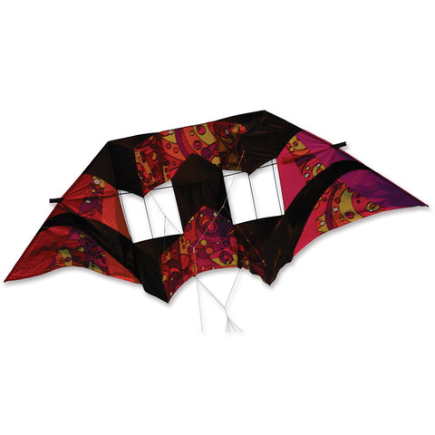10.5 ft Double Box Kite - Warm Orbit