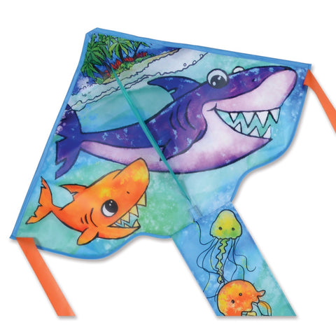 Regular Easy Flyer Kite - Shark Family