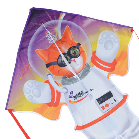Large Easy Flyer Kite - Catstranaut