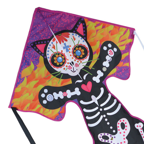 Large Easy Flyer Kite - Day of the Dead Cat