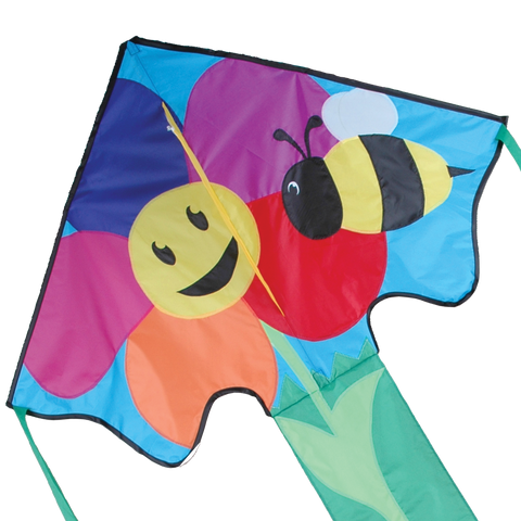 Large Easy Flyer Kite - Bee & Flower