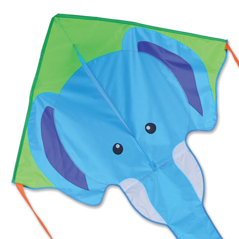 Large Easy Flyer Kite - Blue Elephant